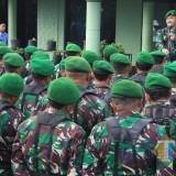 Dandim 0808/Blitar, Letkol Inf Kris Bianto saat memimpin  upacara 17 an di Makodim 0808/Blitar