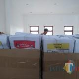 Surat suara disimpan di gudang logistik KPU Kota Blitar.(Foto : Team BlitarTIMES)