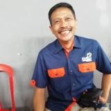 Wahyu Hidayat Kepala DPKPCK Kabupaten Malang saat menyampaikan program pembangunan Ipal Komunal tahun 2019 (Nana)