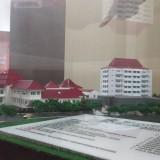 Maket rencana pembangunan gedung bersama di kawasan Balai Kota Malang sebelum dilakukan review (Pipit Anggraeni/MalangTIMES).