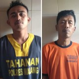 Kusno alias Soglo dan Anton Safari tersangka penganiayaan dan pengeroyokan saat diamankan polisi, Kecamatan Bantur (Foto : Polsek Bantur for MalangTIMES)