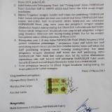 Surat pernyataan yang dibuat staf Panwascam Pakel, Tulungagung. / Foto : Istimewa / Tulungagung TIMES