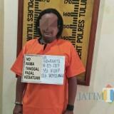 Terlapor Suwignyo saat di Polsek Boyolangu. / Foto : Dokpol / Tulungagung TIMES