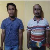 Toni Suherman dan Sularso Andi Wibowo tersangka kasus penganiayaan dan pengeroyokan saat diamankan polisi, Kecamatan Bantur (Foto : Polsek Bantur for MalangTIMES)