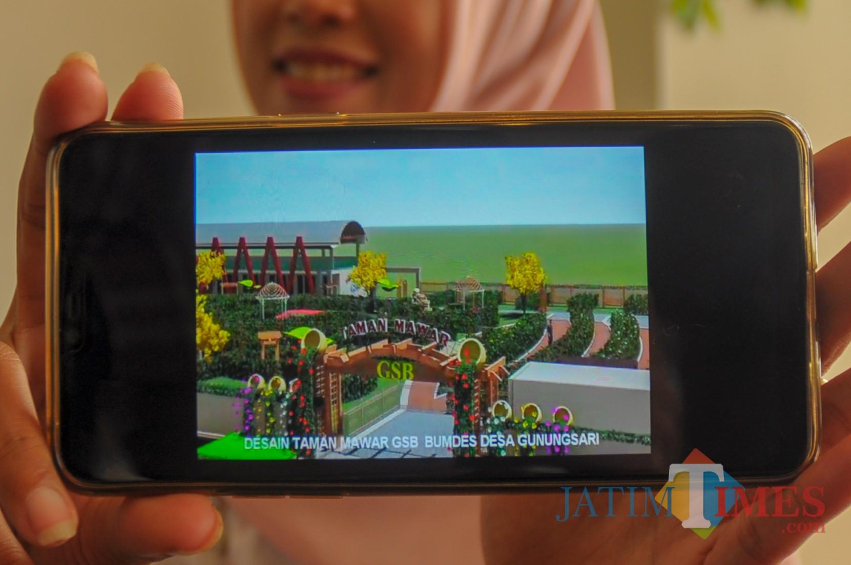 Design rencana pembangunan taman mawar GSB (Luqmanul Hakim/Malang Times)