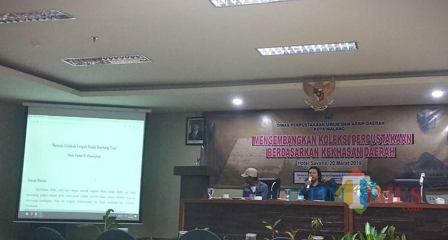 Kegiatan Diskusi Mengembangkan Koleksi Perpustakaan Berdasarkan Kekhasan Daerah di Kota Malang. (Foto: Nurlayla Ratri/MalangTIMES)