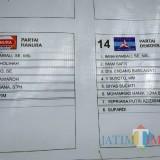 Kesalahan nama di banner surat suara yang terpasang di depan kantor DPRD dan depan KPUD Tulungagung / Foto : Istimewa / Tulungagung TIMES