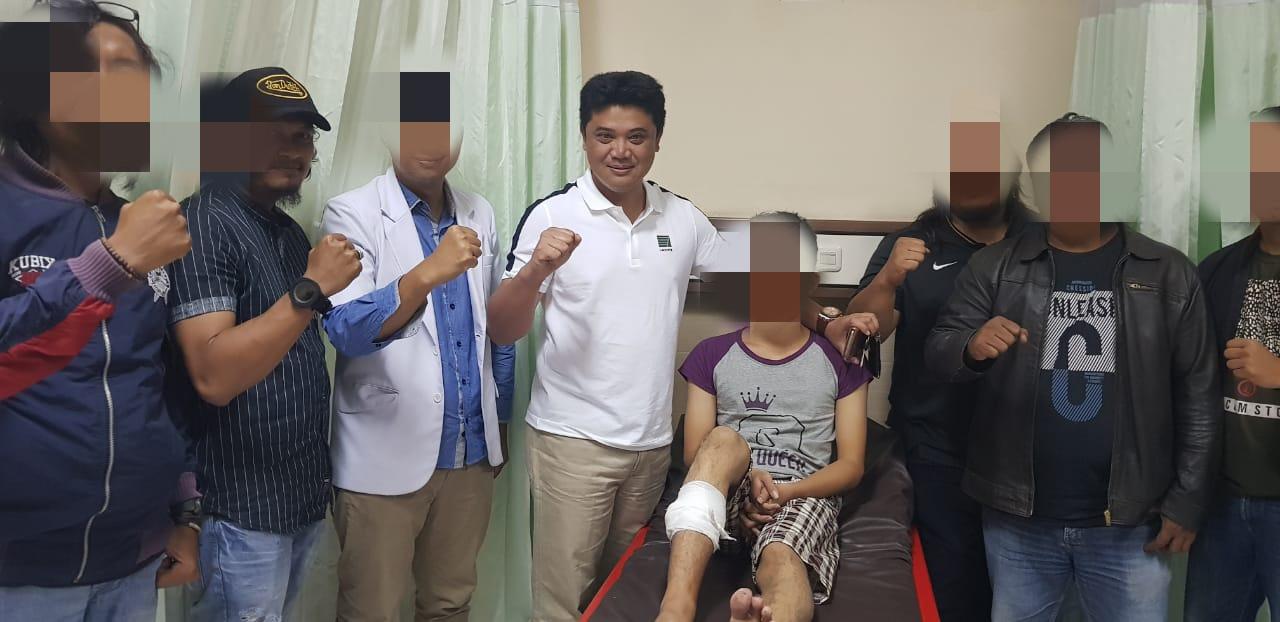 Pelaku saat di rumah sakit. (foto: dok. Satreskrim Polres Tulungagung)