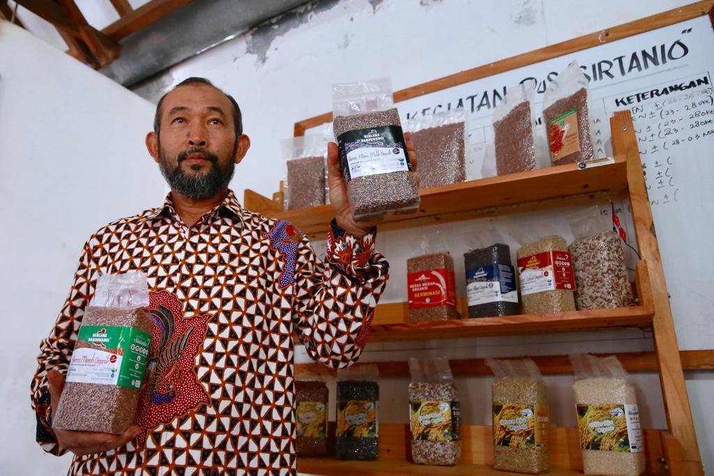 Salah satu beras organik yang masuk pasar Italia