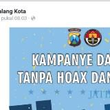 Ilustrasi, unggahan berisi imbauan bijak bermedia sosial yang diunggah akun Facebook resmi Polres Malang Kota. (Foto: Dokumen MalangTIMES)