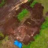 Wilayah lokasi penemuan situs Sekaran tampak dari atas (foto istimewa)