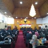 Rapat paripurna penyampaian Laporan Keterangan Pertanggungjawaban (LKPJ) Walikota Blitar tahun anggaran 2018.(Foto : Team BlitarTIMES)