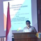 Wali Kota Kediri Abdullah Abu Bakar saat memberikan menyampaikan laporan LKPJ. (eko Arif s /JatimTimes)