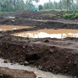 Lokasi pertambangan pasir/galuan C di Dusun Krajan Timur Desa Parangharjo Songgon yang diduga liar alias belum berijin.