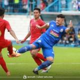 Arema FC ketika menghadapi Timnas Indonesia U-22 di Stadion Kanjuruhan (official Arema FC)