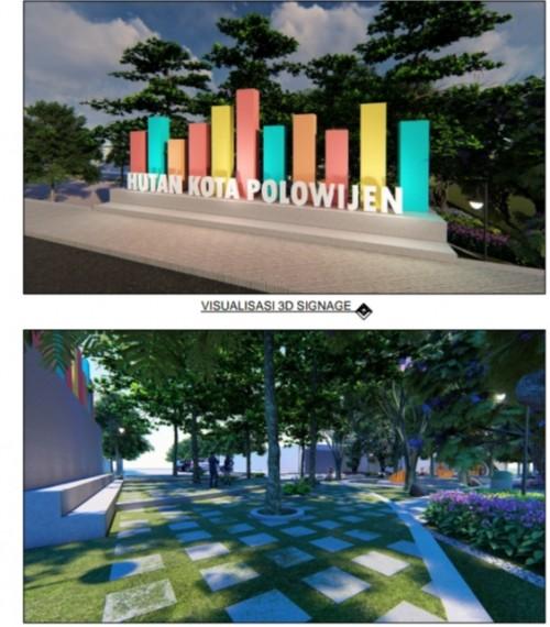 Hutan Kota Polowijen yang direncanakan Disperkim akan dibangun (Disperkim Kota Malang)
