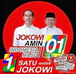 Jokowi-Makruf Amin, Paslon Capres Cawapres Nomor 01