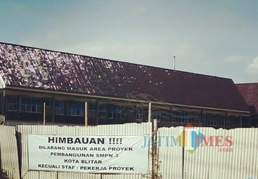 Lokasi pembangunan SMPN 3 Kota Blitar.