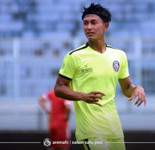 Bek kiri andalan Arema FC, John Alfarizi (official Arema FC)