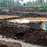 Lokasi pertambangan pasir yang diduga liar di Dusun Krajan Timur Desa Parangharjo Songgon