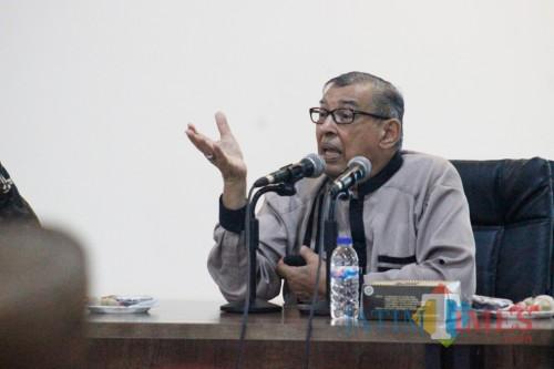 Quraish Shihab di UIN Malang. (Foto: Igoy/MalangTIMES)