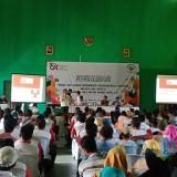 """Suasana Sosialisasi OJK Dalam Mendukung Pengembangan Ekonomi Kreatif dan Digital Gerakan 5 Sila Untuk Kediri Sakti 4.0"""". (Foto: Dok Eva Sundari)"""