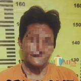 UJ saat diamankan di Polsek Ngunut./ Foto: Dokpol/ Tulungagung TIMES