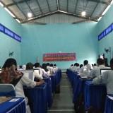 Para peserta mengikuti ujian tes perangkat desa. (eko Arif s /JatimTimes)