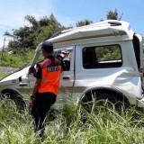 Posisi Mobil Katana usai di seruduk KA Pandanwangi