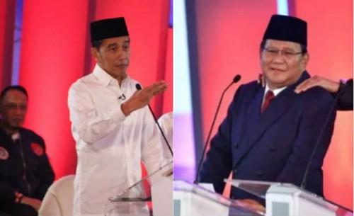 Calon presiden nomor urut 01 Joko Widodo (kiri) dan calon presiden nomor urut 02 Prabowo Subianto (kanan). (Tagar News).