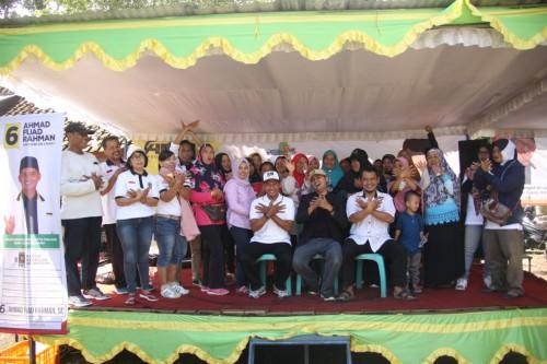 Semarak pesta rakyat di Kelurahan Tasikmadu Kota Malang bersama Caleg DPRD Kota Malang asal PKS nomor urut 6, Ahmad Fuad Rahman, S.E (Istimewa).