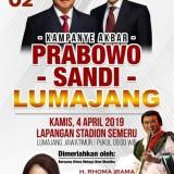 Rencana kegiatan kampanye terbuka pasangan Prabowo Sandi di Lumajang, 4 April mendatang (Foto : Moch. R. Abdul Fatah / Jatim TIMES)