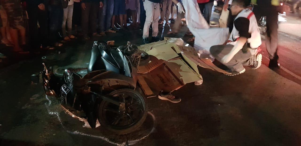 Kecelakaan yang menewaskan seorang gadis remaja asal Kedungkandang (ist)
