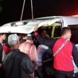 Suasana rumah duka korban di Kelurahan Tamanan Kota Kediri. (eko Arif s /JatimTimes)