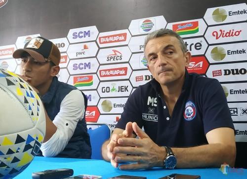 Pelatih Kepala Arema FC, Milomir Seslija (Hendra Saputra/ MalangTIMES)