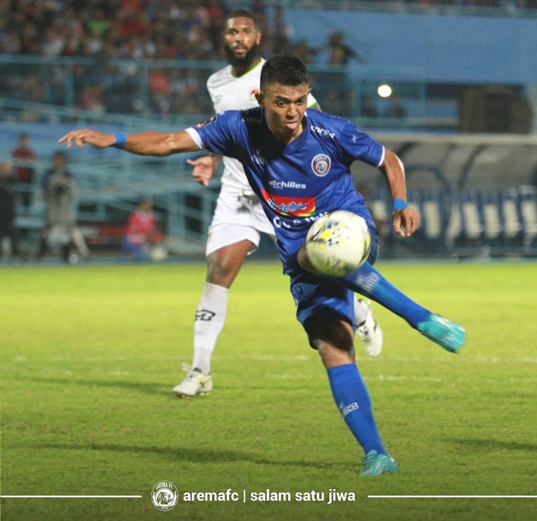 Salah satu pencetak gol Arema FC ke gawang Kalteng Putra, Dedik Setiawan. (official Arema FC)