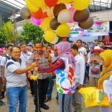 Bupati Blitar membuka langsung Millenial Colorfun-Walk 2019 di Kampung Coklat