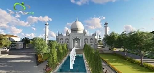 Salah satu icon dari Green Stone City, Masjid yang akan dibangun mengadopsi design Taj,'mahal (istimewa)