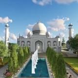 Salah satu icon dari Green Stone City, Masjid yang akan dibangun mengadopsi design Taj,