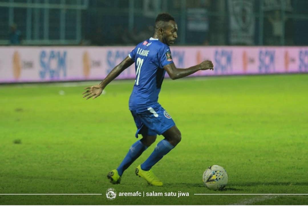 Penyerang Arema FC, Riky Kayame (official Arema FC)