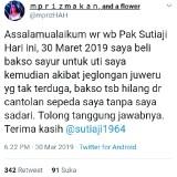 Bakso Hilang Gara-Gara Jalan Berlubang, Warganet Minta Wali Kota Sutiaji Bertanggung Jawab