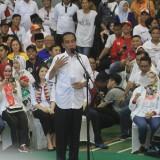 Jokowi saat kampanye di GOR Kedopok Kota Probolinggo  (Agus Salam/Jatim TIMES)