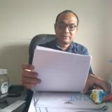 Komisioner Divisi Perencanaan dan Data KPU Kota Blitar, Choirul Umam. (foto : Team BlitarTIMES)