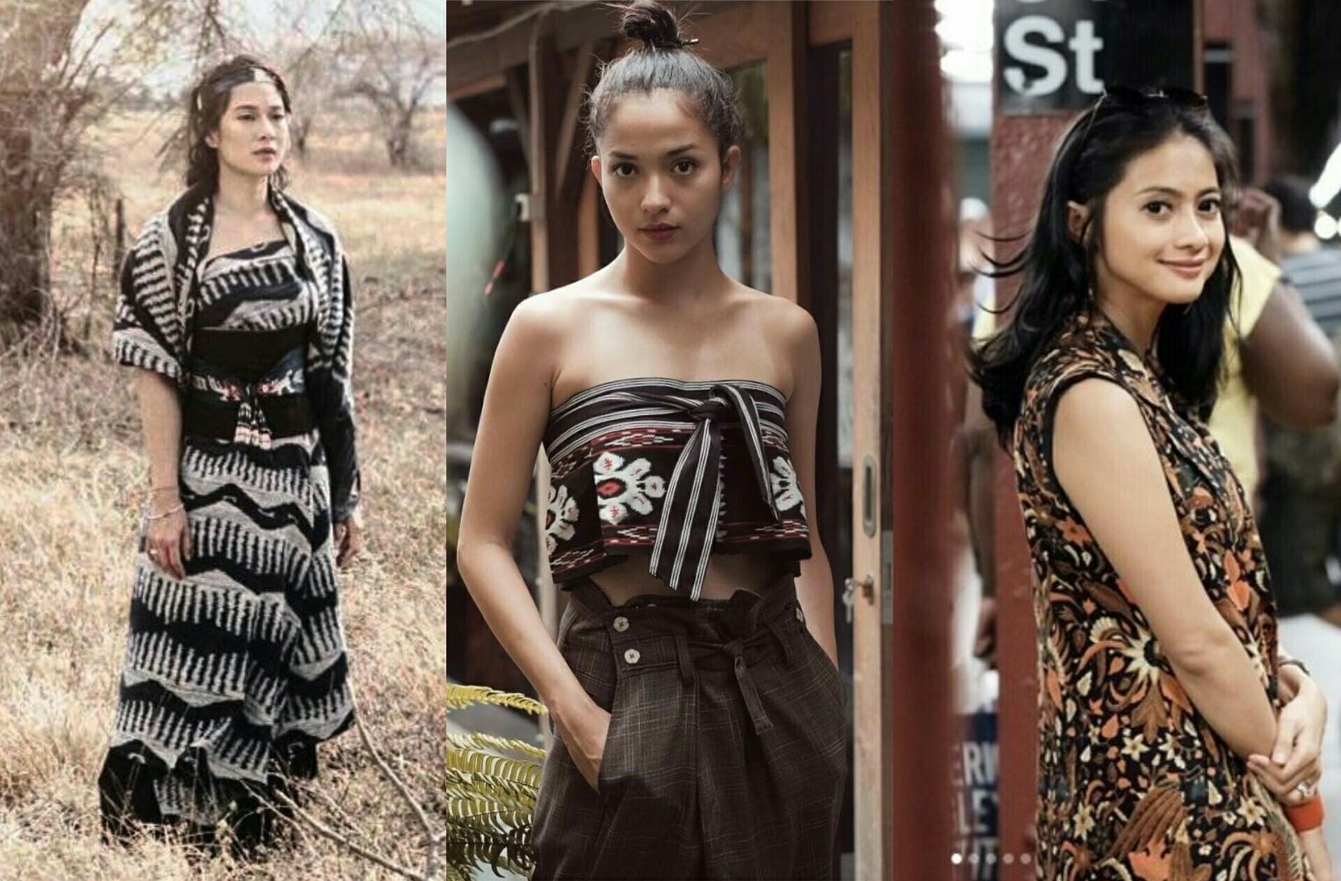 Seleb Indonesia mengenakan busana etnik. (Foto: istimewa)
