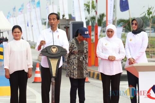 Tol Pasuruan-Probolinggo ketika diresmikan oleh Presiden RI Joko Widodo