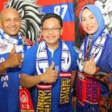 Plt Wali Kota Malang, Sutiaji disambut oleh Aremania Borneo. (Istimewa)