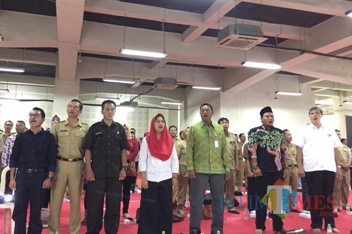 Anggota MPR RI Fraksi PDIP Eva Kusuma Sundari menggelar Sosialisasi Empat Pilar di Basement SLG Kediri. (Foto: Dok Eva Sundari)