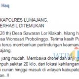Inilah unggahan Bupati Lumajang H. Thoriqul Haq melalui akun media sosialnya (Foto : Moch. R. Abdul Fatah / Jatim TIMES)