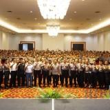 Suasana pemantapan anggota Polri pam TPS. (foto:  Dok humas polres Tulungagung)