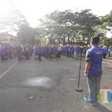 Apel kesiapan jelang Pemilu yang dilakukan Bawaslu Kota Malang. (Foto: Humas Pemkot Malang for MalangTIMES)